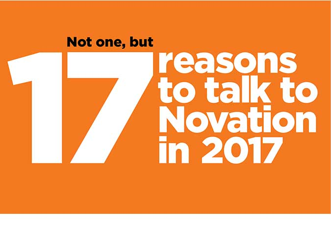 17 Reasons to Talk to Novation in 2017