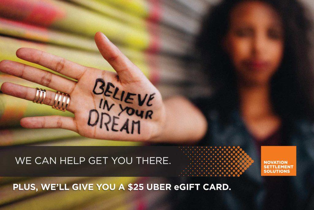 UBER_postcard - believe in your dream